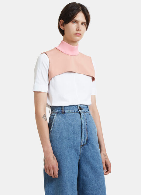 Ribbed Roll Neck Cropped Bib