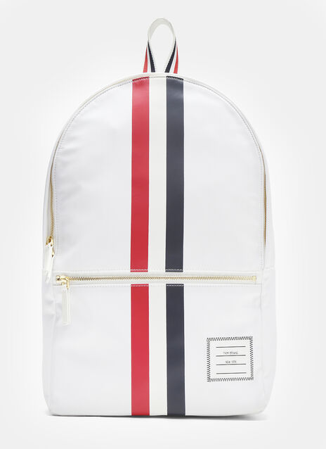 Thom Browne Rubber Striped Web Nylon Backpack