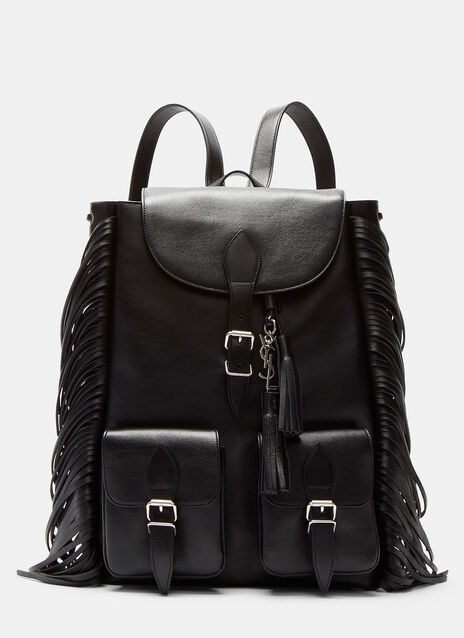 Leather Fringed Backpack