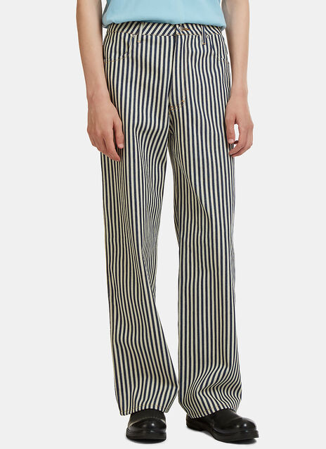 Striped Wide Leg Jeans
