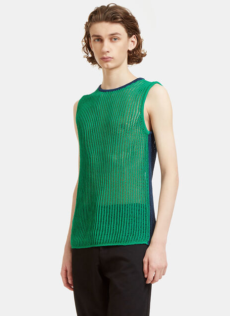 Kan Bi-Colour Mesh Knit Vest