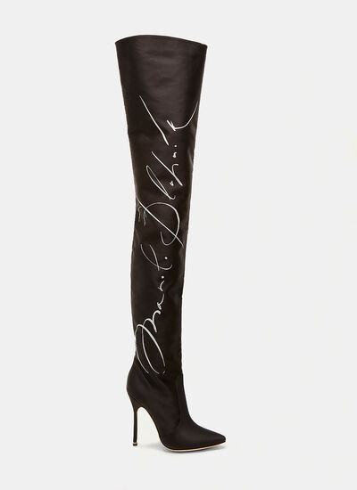 Manolo Blahnik Signature Thigh High Boots
