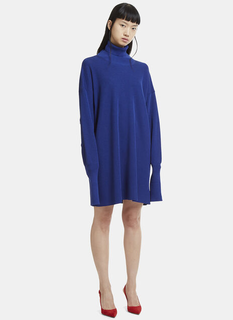 Maison Margiela Long Sleeve Roll Neck Knit Dress