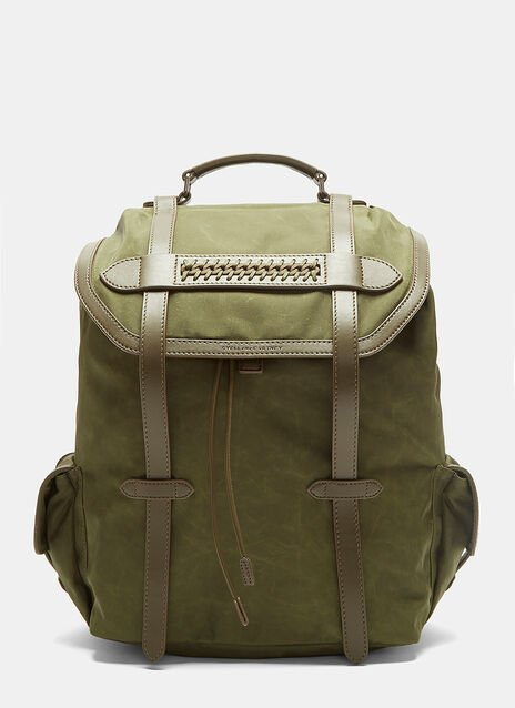 Falabella Waxed Canvas Backpack