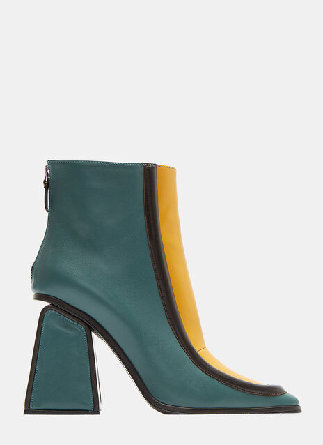 Square Heeled Ankle Boots