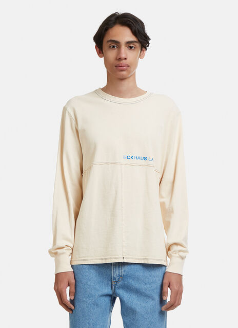 Eckhaus Latta Lapped Long Sleeve T-Shirt