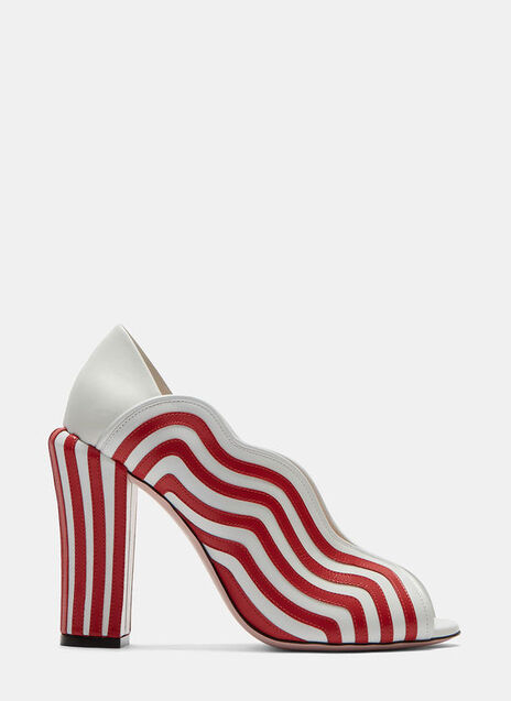 Candy Striped Heeled Sandals