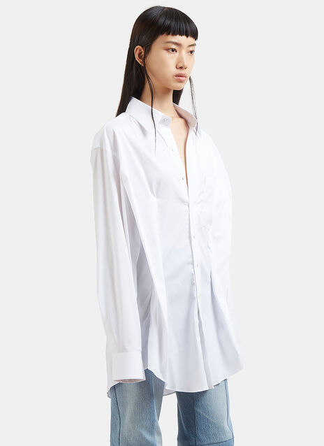 Oversized Secretary Decollage Shirt