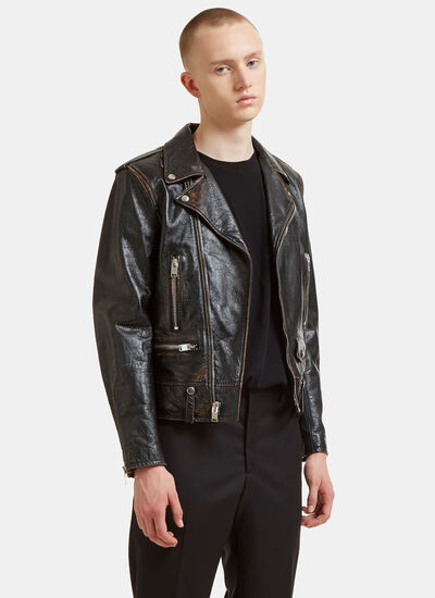Bouche Vintage Leather Motorcycle Jacket