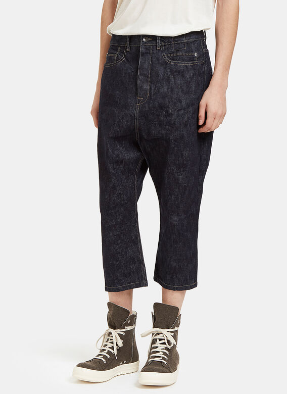 Rick Owens Drkshdw Astaires Cropped Jeans