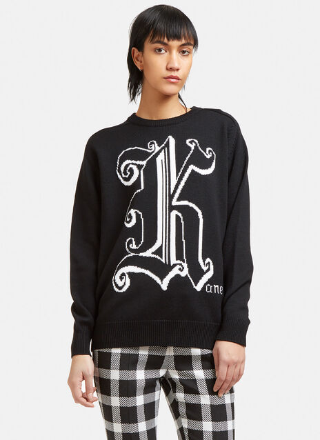 Intarsia Logo Knit Sweater