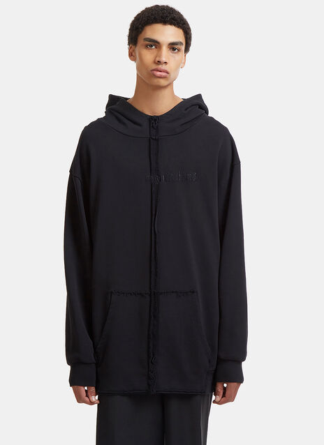 Regulations Embroidered Oversized Hooded Sweater