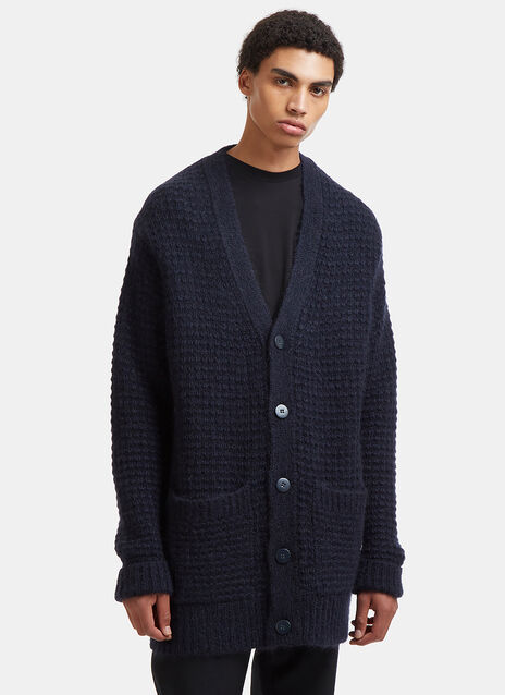 Stella Mccartney Oversized Mohair Waffle Knit Cardigan
