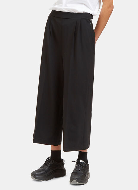 Wide Cropped Pleat Culottes