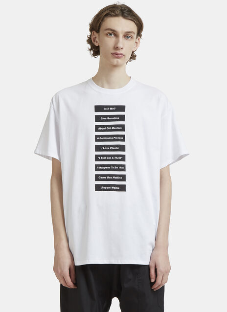 Raf Simons Wording T-Shirt