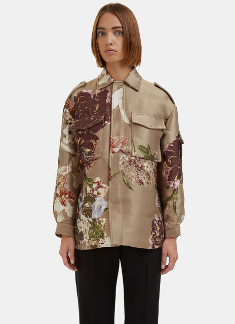 Metallic Floral Brocade Jacket
