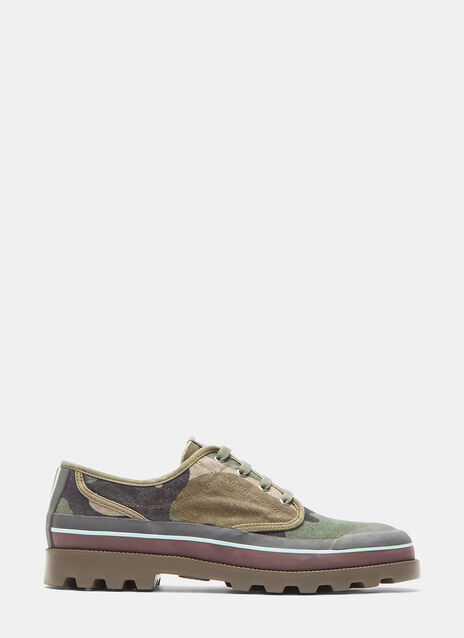Camouflage Low-Top Sneakers