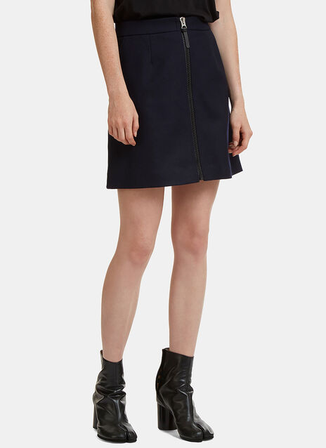 Suraya Zipped Flannel Mini Skirt