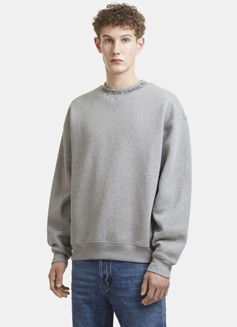 Acne Studios Flogho Logo Crew Neck Sweater