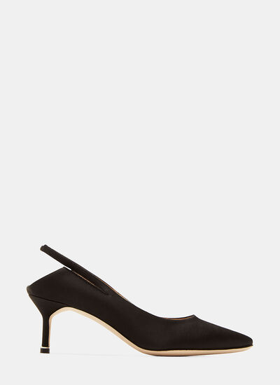 Manolo Blahnik Backless Kitten Heeled Pumps