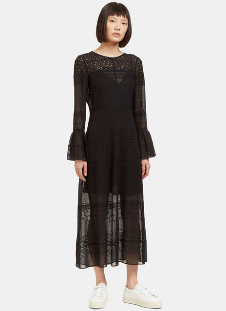 Long Sheer Broderie Anglaise Dress