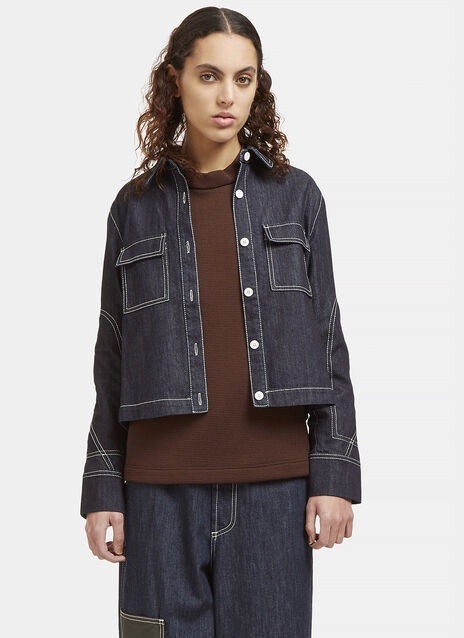 Contrast Stitched Denim Jacket