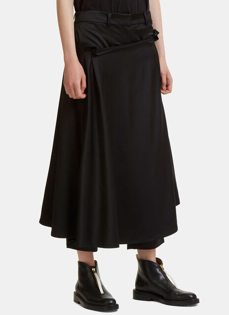 Apron Wrap Cropped Pants