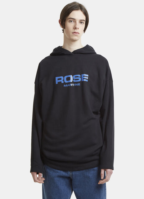 Martine Rose Hooded Logo Sweatshirt