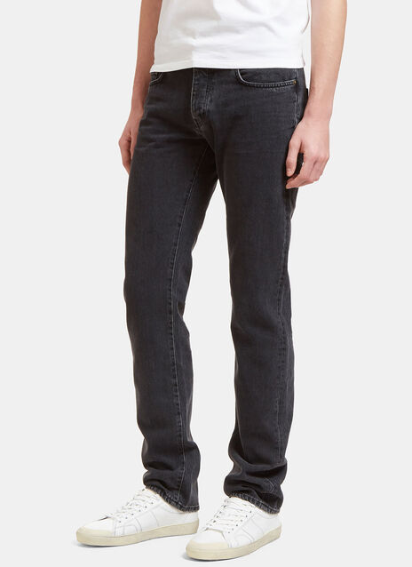 Saint Laurent Mens Straight Fit 5 Pocket Low Waisted Jeans