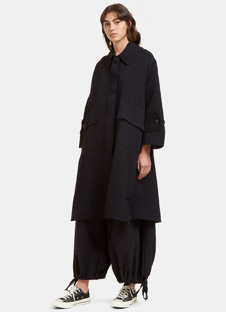 Oversized Tactile Woven Dust Coat