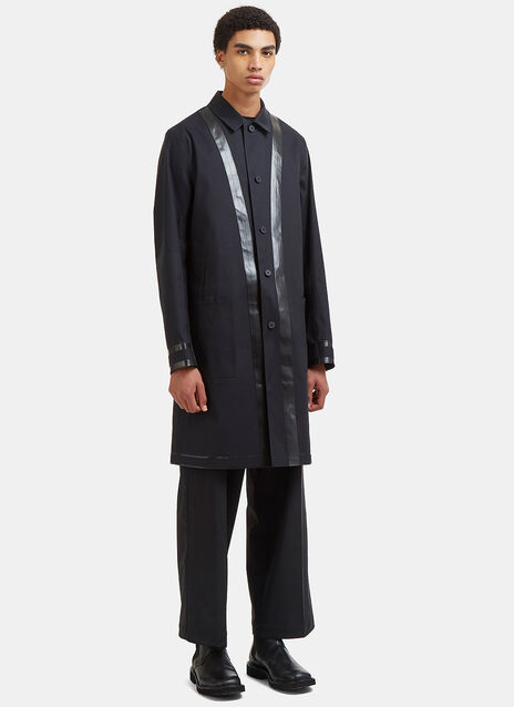 Reversible Rubberised Trim Trench Coat