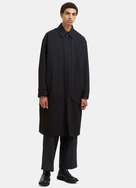 Zeelander Oversized Ribbed Twill Coat