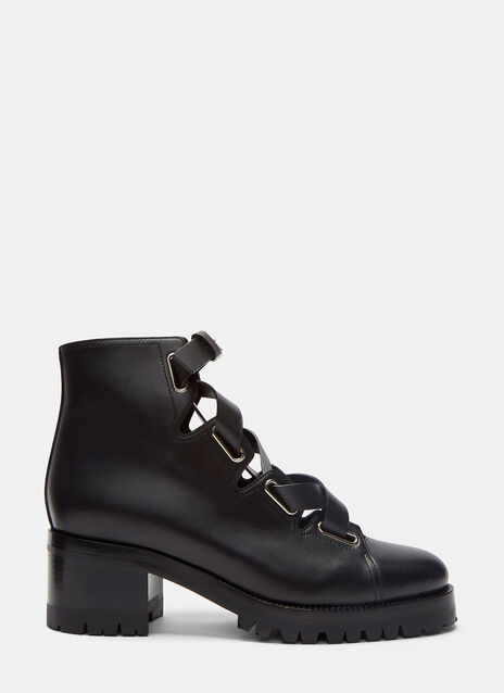 Leather Laced Ankle Boots