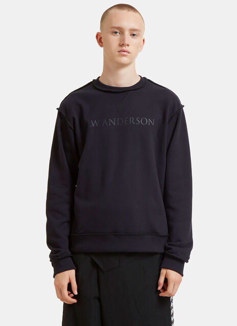 Logo Branded Overlocked Sweater
