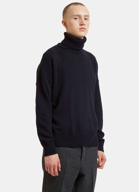 Dropped Sleeve Roll Neck Sweater
