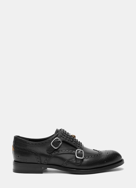 Studded Double Strap Monk Shoes