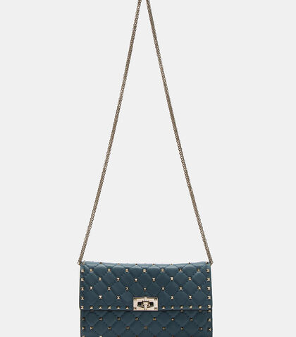 Spike Rockstud Quilted Shoulder Bag