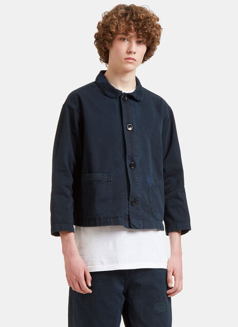 Patched Denim Chore Jacket