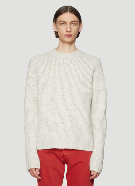 Helmut Lang Ghost Knit Sweater in Grey