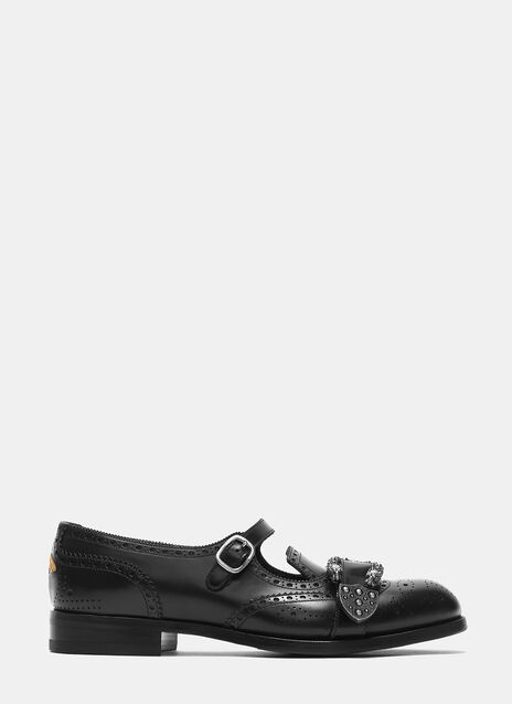 Queercore Leather Brogue Monk Shoe