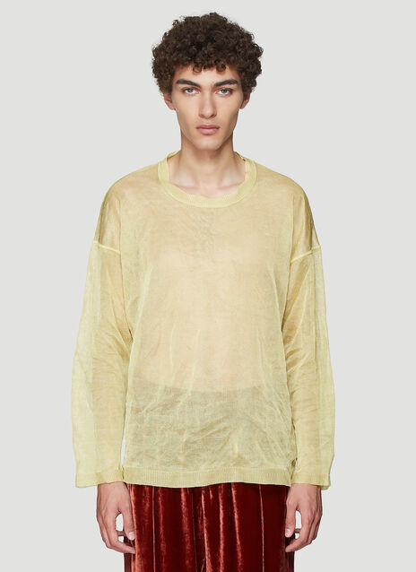 아워 레거시 Our Legacy Open Knit Sweater in Yellow