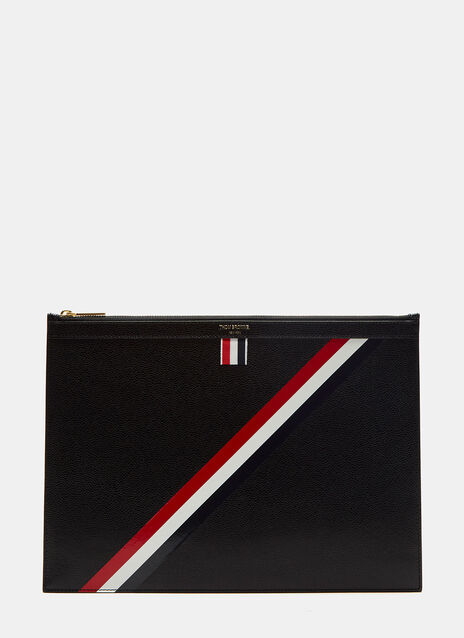 Diagonal Taped Stripe Document Case