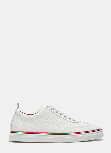 Pebble Grained Leather Low-Top Sneakers