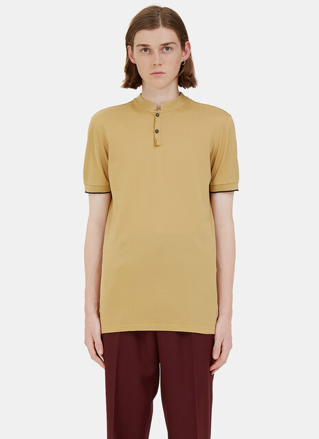Short Stand Collared Polo Shirt