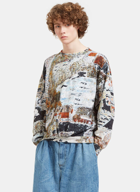 Garden Printed Oversized Sweater