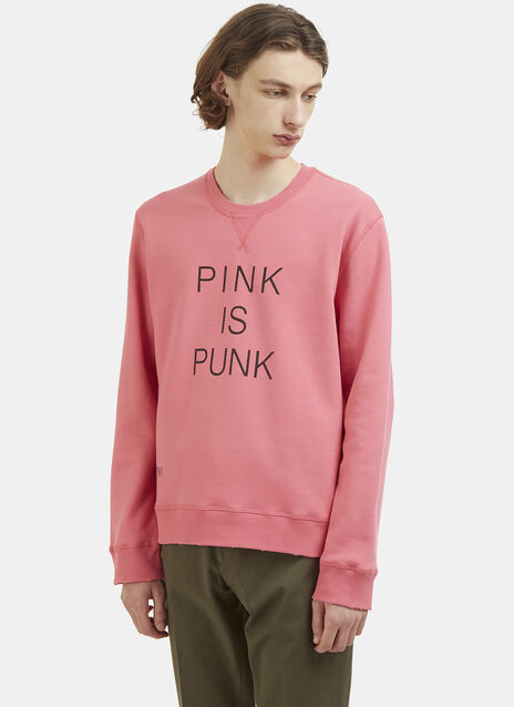 Punk Is Pink Print Sweatshirt