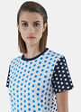 Polka Dot Crew Neck T-Shirt