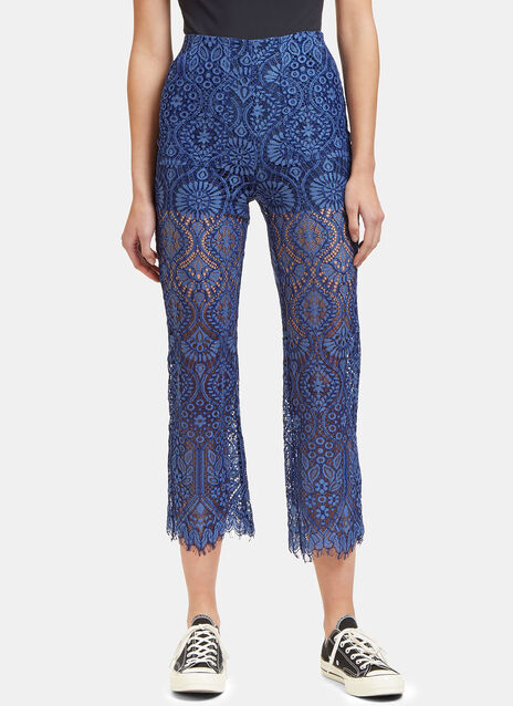 High-Waisted Lace Pants