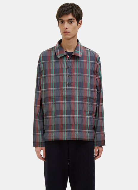 Madras Checked Packable Anorak Jacket