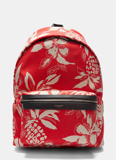 Hibiscus Canvas Hunting Backpack